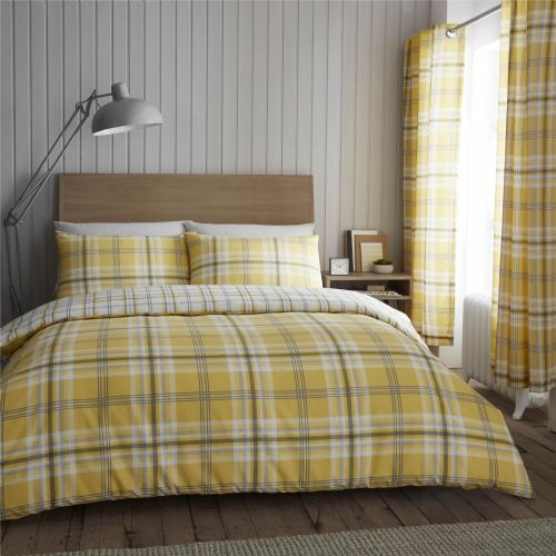 Catherine Lansfield Kelso Ochre Bedding Set